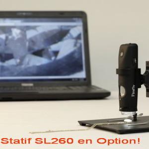 Caméra Microscope Polarisant USB sans fil Firefly GT620 & GT630+ statif SL260