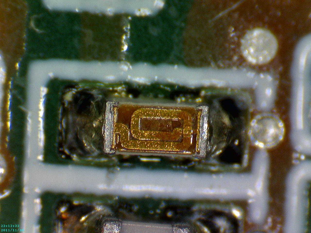 Caméra Microscope USB Firefly GT800 @230x (circuit components)